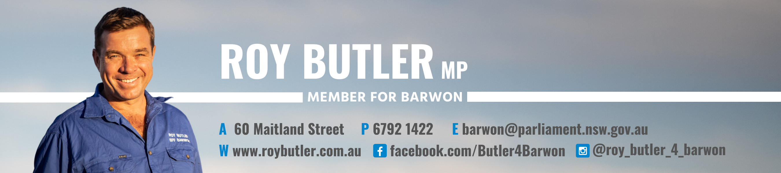Roy Butler MP Member for Barwon
